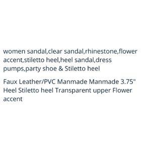 Shoes - Women's Silver Party Shoe & Stiletto Heel